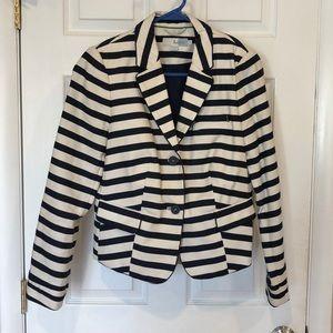 Boden Navy and Cream striped blazer